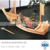 decoration sailling model wooden sushi boat