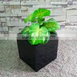 Fiberglass Modern Black Smoothly Rectangular Planter Boxes