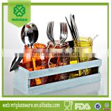 Glassl Cutlery Holder Flatware Caddy Organizer for Kitchen Countertop Storage, Dining Table
