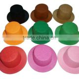 All kinds of custom cheap wool felt mini hat blank body wholesale for kids girl's playing decoration on sale made in China