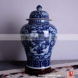 Customized blue and white porcelain hand painted dragon temple ginger Jars