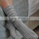 cashmere bed socks custom cable knit socks