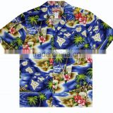 Mens Hawaiian Shirts Wholesale Short Sleeve Shirt With All Over Hawaiian Beach Print