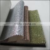 Made in China 2013Good style pu leather fabric glitter