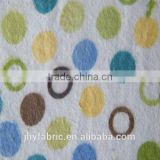 100% organic cotton flannel print fabric for baby gaements