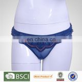 China Manufacturer Breathable Female Blue Underware