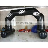 2015 new style black color inflatable sealed air arch