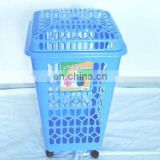 plastic laundry basket with lid and wheels