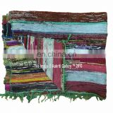 Wholesale Chindi carpet floor Rag Rug Indian Wall Decor 100% Cotton Yoga Mat Hand Woven 5'x3' Area Floor Mat