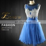 2016 Wholesale High Class Heavy Beaded Net Prom Dress for Girls