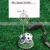 Soccer themed place card holders favors