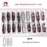 long oval crystal pointback fancy stone wholesale cheap for craft