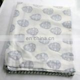 lozenge shap Indian Cotton White Damask Hand Block Printed AC Quilt Dohar 100