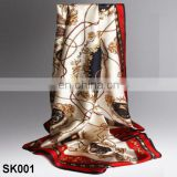 China Factory Promotional Digital Print Satin Silk Scarf