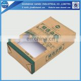 Custom packaging brown kraft paper box with printing