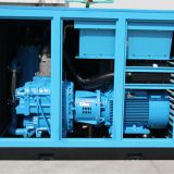 Two stage compression screw air compressor