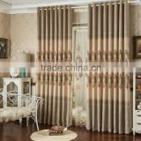 European new design embroidery linen curtains /living room curtains /bedroom finished curtains