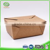 Convenient recycled chinese take out lunch box disposable bento box paper food pail                                                                                                         Supplier's Choice