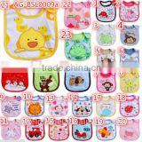 2016 customized designs embroider wholesale cotton baby bibs AG-BSL0009