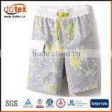 2016 UPF Anti-UV water proof placement print boys board shorts                                                                         Quality Choice