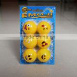 Emoji Emoticon Beer Pong Balls custom logo ping pong ball ,table tennis ball wholesale