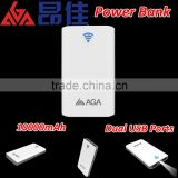 AGA smart 10000mAh power bank for iphone | portable small USB lithium battery charger | mini power supply for digital devices