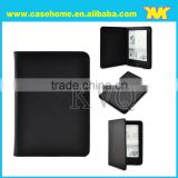 The machine frame model PU leather litchi grain different color for kindle case with auto sleep and wake for tolino vison