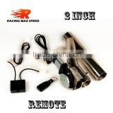 2 inch type y Stainless steel Electric exhaust flexible pipe with remoter