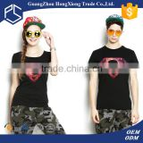 High quality manufacturer custom printed short sleeve summer fashion design couple t shirts