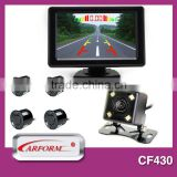 Fashion mirror reverse parking sensor kit with built in buzzer alert parking sensor OEM/ODM