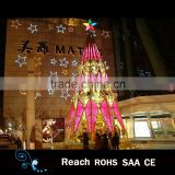 Best selling products motif christmas tree tower frame giant christmas tree outdoor commerical display with ball ornaments