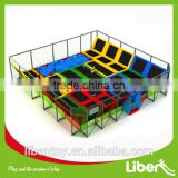 large indoor elastic bed in trampoline for kids