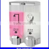 double hanging shower gel dispenser, wall mounted double liquid soap dispenser