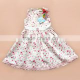 2016 fashion new children summer girls dresses made in China wholesale kids clothes