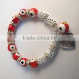 fashion Women Bracelets Bangles 8mm eyes bead color Infinity cheap Bracelet! mix order.RBB072