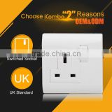 1Gang 13A Flush Type Wall uk usb Socket Switch Australia power plug uk electrical outlet