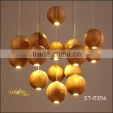 ST-5354 Sunbelt manufacturer's premium wooden pendant Light ,7 Head Round Ball Ceiling Light, Dinning Room Hanging Lamp