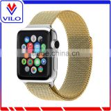 Milanese Fully Magnetic Closure Clasp Mesh Loop Stainless Steel Band Replacement Wrist Bracelet Strap for Apple Watch