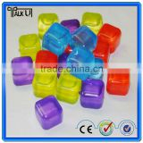 High quality Recycling food grade plastic/acrylic ice stones/cubes for red wine