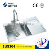 10 inches rectangular stainless steel handmade laundry sink with wash board