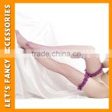 Japanese Sexy Women Sheer Lace Top Tigh High Stockings fishnet stockings purple stockings for ladies PGSK-0130