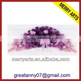 Alibaba china factory wholesale purple christmas wreath 12 inch lowes plastic christmas wreaths decor