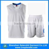 Design white cheap youth reversible basketball uniforms