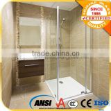 tempered glass cheap shower enclosure/sliding door and ABS or Acrylic tray shower cabin