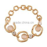 2015 Fashion Chunky Bracelet Jewelry 18K Gold bracklet Romantic handmade Gift bijou Chain Line charms Bracelet