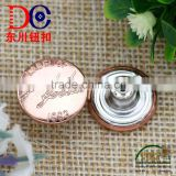 Furniture guangzhou Vogue Custom Made Metal Jeans Button for leather jacket