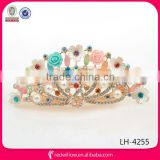 Wholesale jeweled hair accessory crystal pearl flower hair barrette