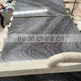 Silver Wave Marble, Black Antique Wooden Marble Slabs; Backgroung Wall Marble