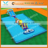 2013 giant rectangular above ground steel frame swimming pool hot sale
