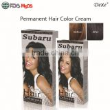 natural ingredients permanent Subaru best hot selling color cream